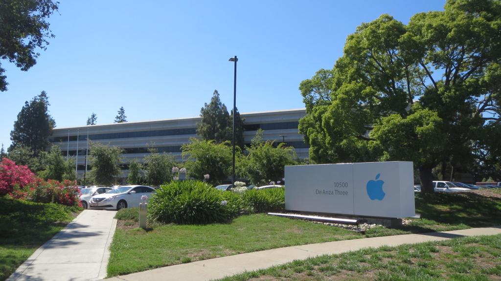 Eins der vielen Gebäude auf dem Apple-Campus in Cuppertino