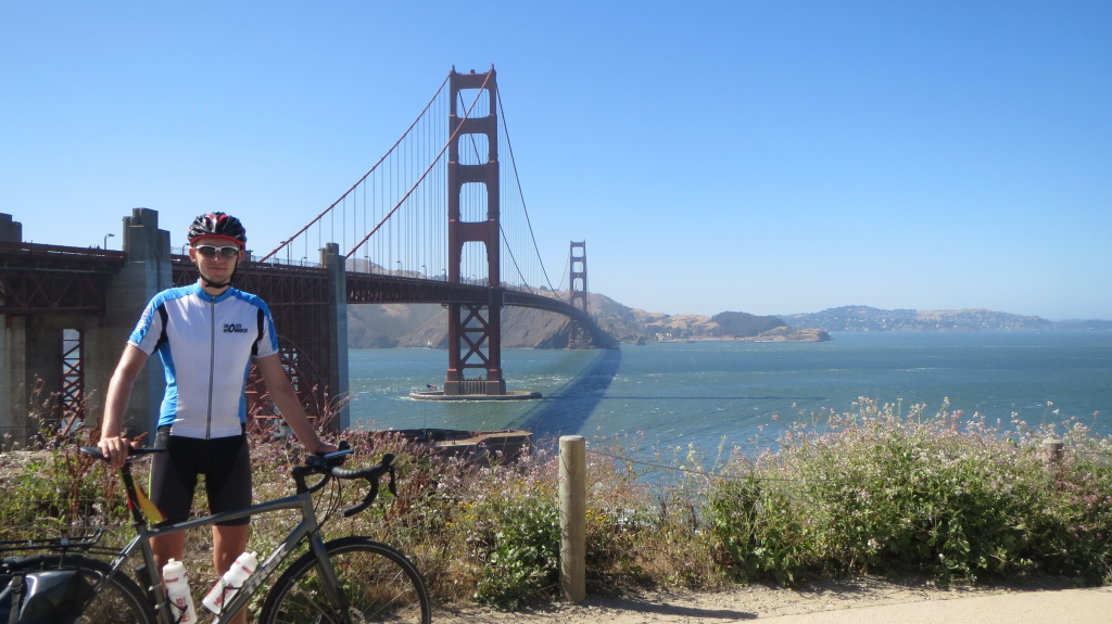 Nach knapp 6.430 Kilometern endlich am Ziel - der Golden Gate Bridge