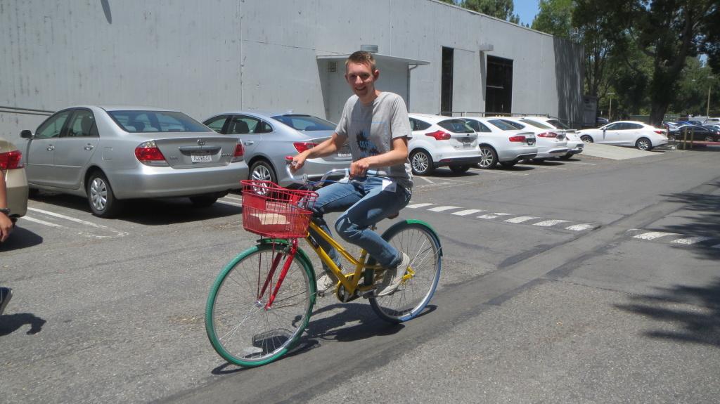 Unterwegs auf dem Google Bike
