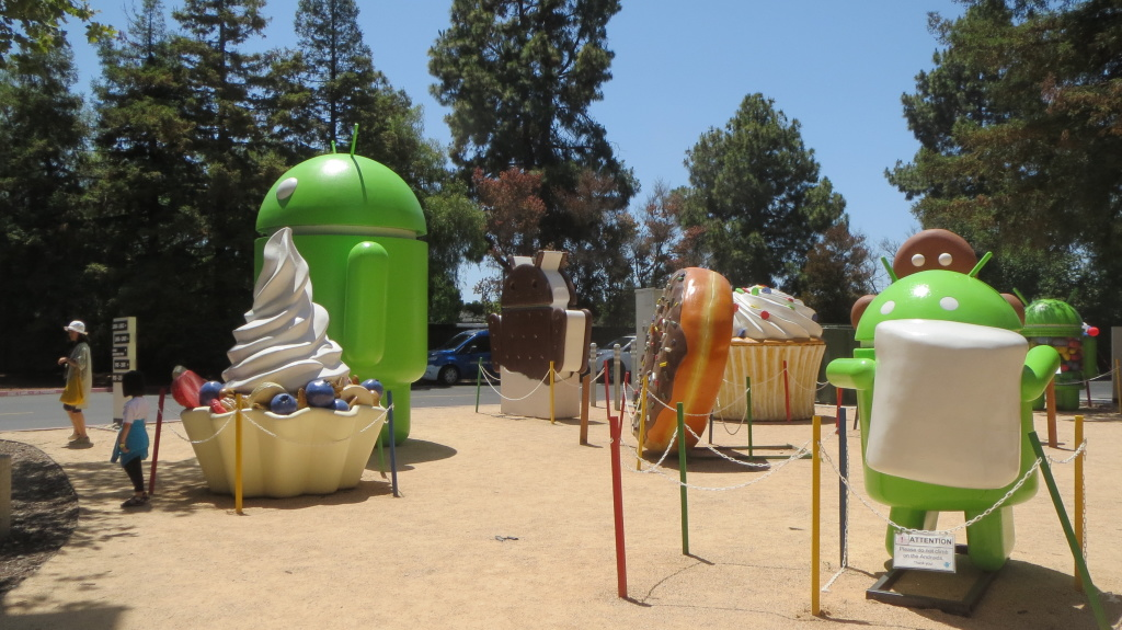 Please don't climb on the Androids